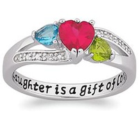 Sterling Silver A Daughter Is A Gift Birthstone He
