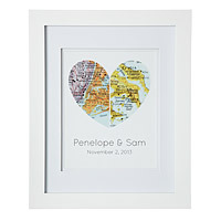 map of our hearts valentines day gift idea