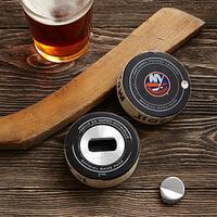 Game Used Hockey Puck Bottle Opener
