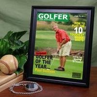 Personalized Golfer Magazine Cover Frame