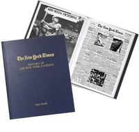 New York Times Personalized Baseball History Book