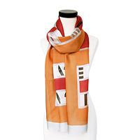 modern art scarf