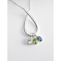 Family Embrace Birthstone Necklace - 5 Stone