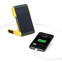 solar powered charger for phone and light gift for text crazed nieces