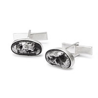 real meteorite stone cuff links gift for geeky man