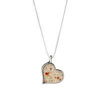 Custom Beach Heart Necklace