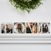 Personalized Love Photo Shelf Blocks Set