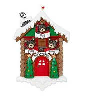 Personalized Bear Cabin Family Ornament - 3
