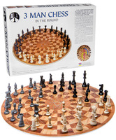 three person chess game gift for grandfathers