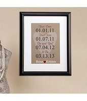 Personalized Milestone Wedding Print - Wedding Gif