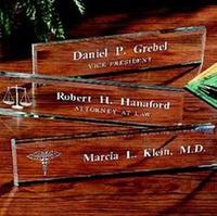 Personalized Beveled Glass Nameplates