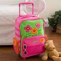 Personalized Kids Suitcases - Flowers Rolling..