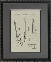 Guitar Patent Art Wall Hanging | Player Musician..