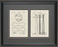 Baseball Bat Patent Art Wall Hanging | Player..