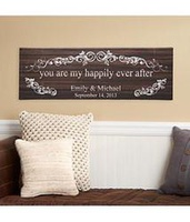 Personalized You Are My Happily Ever After Canvas