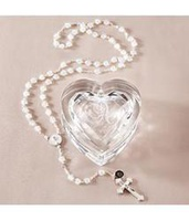 Personalized Heart Box With Rosary
