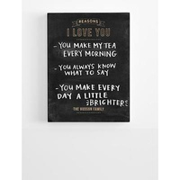 Personalized I Love You Chalkboard