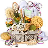 indulgent luxurious spa basket for grandmothers who love their down time