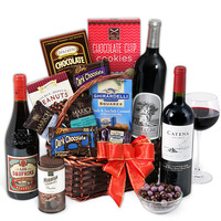 chocolate and wine gift for new moms