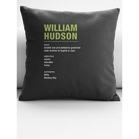 Personalized Name Meaning Throw Pillow Cover