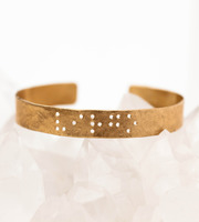 zodiac braille cuff bracelet gift for nieces