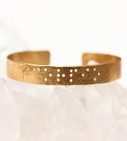 Sisters Braille Cuff Bracelet