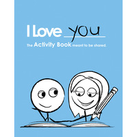 I love you activity book stocking stuffer for husband or wife