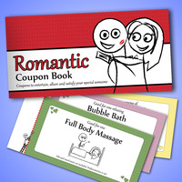 The Romantic Coupon Book - Novelty Love Vouchers