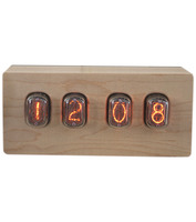 vintage nixie tubes clock gift for man