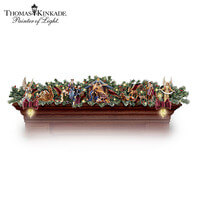 Thomas Kinkade Illuminated Nativity Story Garland