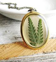 Pressed Fern Leaf Necklace