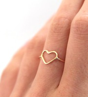 gold heart ring first valentine's day gift idea for girlfriend
