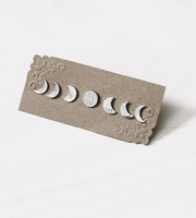 moon phases earring set gift for first valentine's day