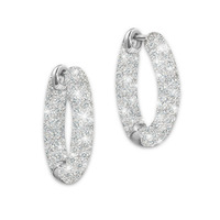 Loves Whisper Diamond Earrings Engraved With I..