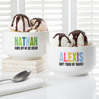 Personalized Snack Bowl For Kids - Hands Off