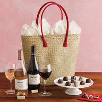 ValentineS Day Wine And Chocolate Tote Gift -..