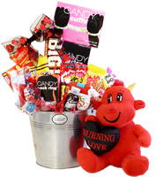 Naughty Little Devil Valentine Candy Gift Pail