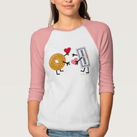 bagel and cream cheese love tee shirt gift for valentines day