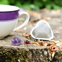 Heart And Gemstone Tea Infuser