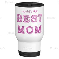 Worlds Best Mom 15 Oz Stainless Steel Travel Mug