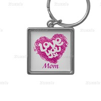 Love You X Mom Keychain
