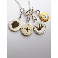 Artisan Graphic Charm Necklace