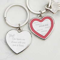 Personalized Heart Key Chain - Always With You