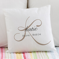 Personalized Throw Pillows - Name Meaning