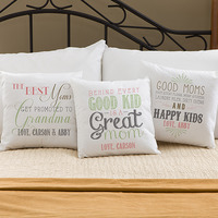 Personalized Throw Pillows - Loving Words To Her