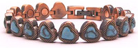 Copper Hearts - Simulated Gemstone Copper..