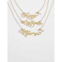 City Script Necklace