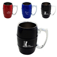 custom double walled steel mug