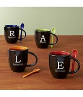 Personalized Initial Mug With Spoon