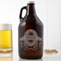 personalized beer growler for beer snob dads who have it all